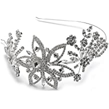 Vintage Style Silver Tone Side Accent Headband by Elegance by Carbonneau
