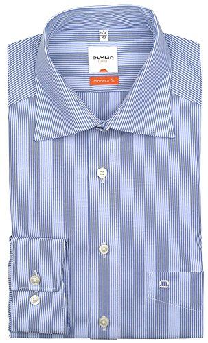 """Olymp Herren Hemd """"Modern Fit"""" Langarm Blau"""
