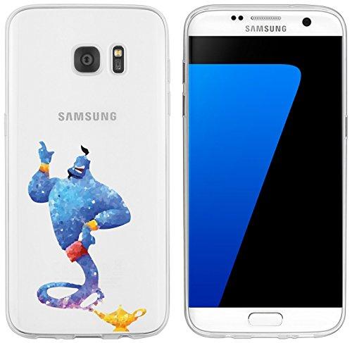 Preisvergleich Produktbild Samsung Galaxy S7 Edge Hülle von licaso® für das Galaxy S7 Edge aus TPU Silikon Dschinn Wunderlampe Aquarell Geist Orient 1001 Nacht ultra-dünn schützt Dein Samsung Galaxy S7 Edge & ist stylisch Schutzhülle Bumper in einem (Samsung Galaxy S7 Edge,  Wunderlampe Aquarell)