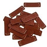 non-brand Sharplace Handmade Leder Labels Etiketten Einnähetiketten Kleideretiketten 20 Stk - Braun 2#, 51 × 15 × 1 mm