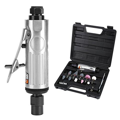 """Zerodis Winkelschleifer Luft Matrize Grinder Kit 1/4"""" 1/8"""" Pneumatische Rotary Air Compressor Tool Set mit Schleifköpfen und Schraubenschlüssel Zubehör"""