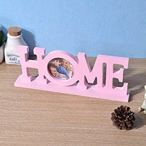 Aoligei Creative blue home letter frame simple wood pendulum 30*4cm