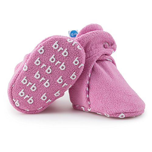 Baby Girls-cozy Fleece (BirdRock Baby Fleece Booties Bio Baumwoll-Futter und rutschfeste Greifer (US 5.5, Cotton Candy))