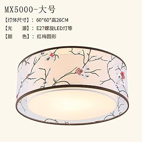 KANG@ Plafonniers Nouveau moderne minimaliste chinois salon chambre à coucher lampe restaurant étude Hung Mui grand diamètre 60cm ronde