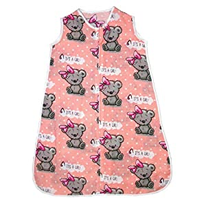 Saco de dormir de muselina de verano para bebé, 0,5 tog 10 Talla:0-6 months (0.5 tog)