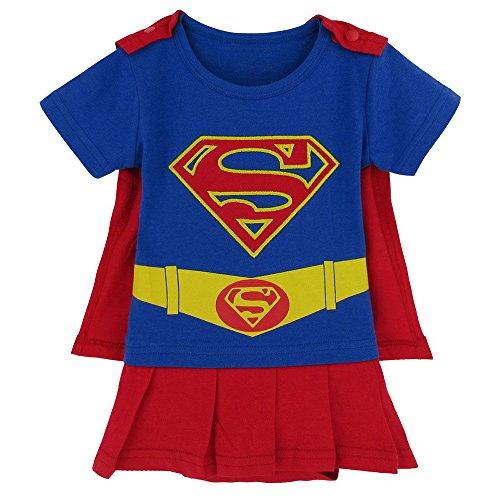 riertes Säuglings-Caped-Kleid (Kleinkind Superman Kostüm)