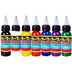 Solong Tattoo 7 Unidades Tinta de Tatuaje Pigmento Básicos Colores de Tatuaje 1 OZ 30 ml/Botella Tinta Kit Para Tatuar Alta Calidad Materiales Para Tatuar TI301-30-7