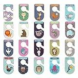 Set de 20 separadores de armario para bebé, organizadores