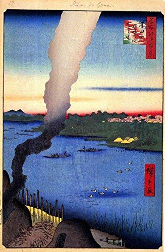 Das Museum Outlet–Hiroshige–Fliesenaufkleber Brennöfen–Leinwanddruck Online kaufen (152,4x 203,2cm)