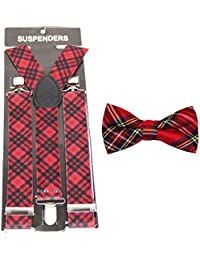 Novelty Suspenders/Braces with Matching Bow Tie – Choice of 14 Designs