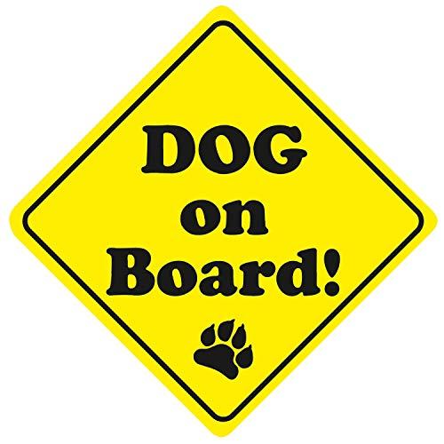 iSecur Auto-Aufkleber Dog on Board I 11 cm hoch I Hundeaufkleber I Sticker für Hunde-Besitzer I wetterfest I kfz_317