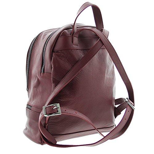 IO.IO.MIO leichter echt Leder Frauen Rucksack CityRucksack DayPack Farbwahl grau bordeaux