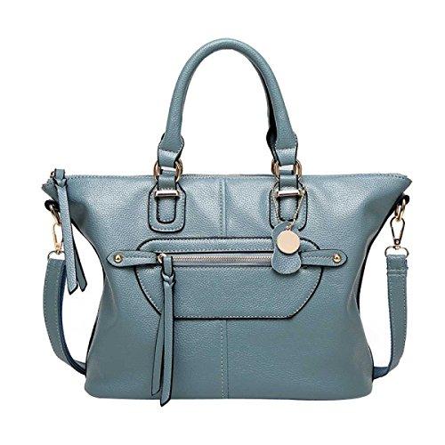 Frauen-Art- Und Weiseschulter-Beutel PU-lederne Handtasche Blue