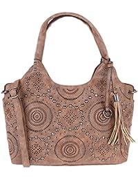 Fur Jaden Women's Handbag(Brown,H295_Brown)