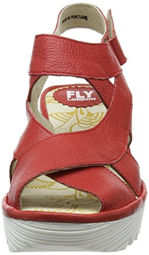 Fly London Yona737fly, Scarpe Col Tacco con Cinturino a T Donna Red (Scarlet 011)