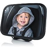 Rücksitzspiegel für Babys aus bruchsicherem Matarial | Autositz-Spiegel 24.5 x 17.5 cm | Auto-Rückspiegel für die Babyschale / Kinderschale / Kindersitz / Babysitz | Sicherheitsspiegel | splittersicher | als Hoch- oder Querformat montierbar