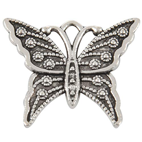 TOOGOO 10Pcs Vintage Metall Schmetterling Anh?nger Schmuckzubeh?r