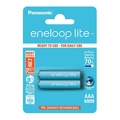 Panasonic eneloop lite pre-charged - Pack 2 pilas AAA recargables