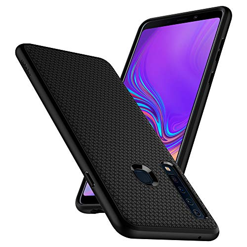 Spigen Liquid Air, Samsung Galaxy A9 2018 Hülle, Stylisch Muster Design Silikon Handyhülle mit Luftpolster Air Cushion Technologie Schutzhülle Case (Schwarz) 607CS25533