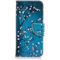 Tophung Funda de Piel sintética para Samsung Galaxy A6, a Prueba de Golpes, con función Atril, Tarjetero y Ranura para identificación, con Tapa, para Samsung Galaxy A6, Kapok