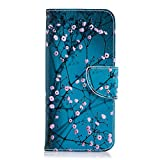 Lomogo Samsung Galaxy A6 2018 Case, Leather Wallet Case with Kickstand Card Holder Shockproof Flip Case Cover for Galaxy A6 (2018) - LOBFE12242#8