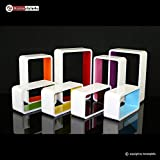 Homestyle4u Cube Wandregal Regal Bücherregal Hängeregal 3 er Set Retro Design weiss rot