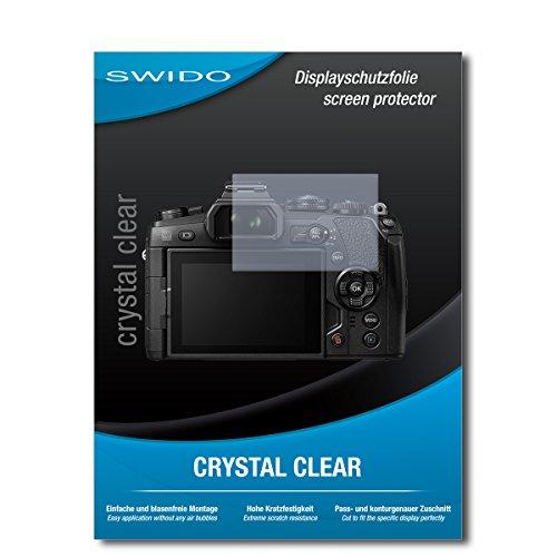 SWIDO Film de Protection d'écran pour Olympus Om-D E-M1 Mark II [Lot de 2] Crystal Clear, Transparent, Film Protecteur, Extrêmement résistant, Anti-Rayures, Pas de Bulles