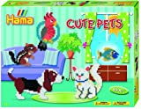 Hama 3137 - Geschenkverpackung niedliche Tiere, ca. 4000 Bügelperlen und 2 viereckige Stiftplatten