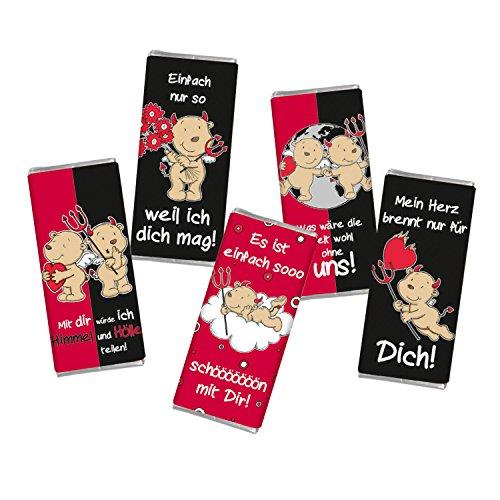 Frohe Weihnachten Männer Bilder.5 Mal Mini Schokolade Weihnachten Liebe Engel Teufel Steinbeck Vollmilch Schokolade Tafel Frohe Weihnachten 5er Set Geschenk Süß Mitgebsel Herzen
