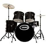 Force Five DrumSet, Black, Black HW