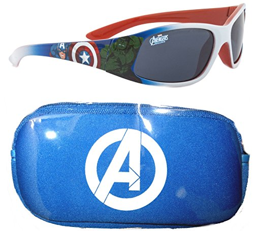 Marvel Avengers Jungen Sonnenbrille & Case