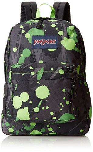 jansport-superbreak-backpack-zap-green-super-splash-167h-x-13w-x-85d
