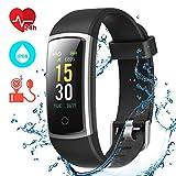 CHEREEKI Fitness Armband, Fitness Tracker mit Pulsmesser IP68 Wasserdichter Farbbildschirm Aktivitätstracker Fitness Uhr
