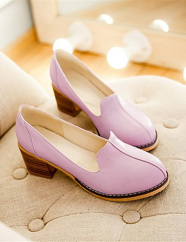 WSS 2016 Chaussures Femme-Mariage / Habillé / Décontracté / Soirée & Evénement-Noir / Rose / Violet / Blanc-Gros Talon-Talons-Talons-Similicuir black-us6 / eu36 / uk4 / cn36
