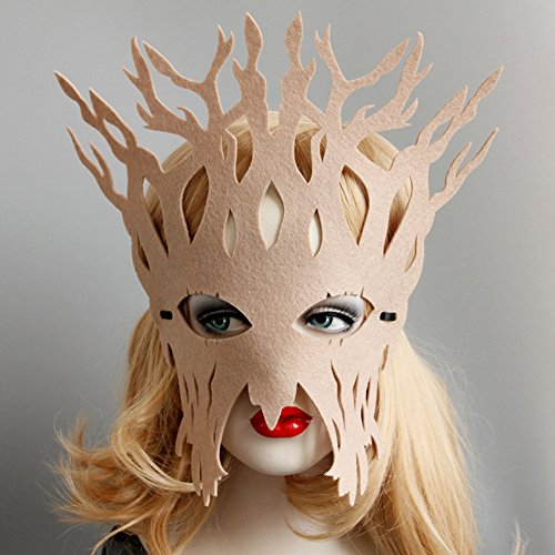 ysoutstripdu Hohl Frauen Baumstamm Face Eye Mask Masquerade Ball Halloween Cosplay Party Maske