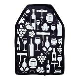 Saveur et Degustation kv7103Funda enfriadora para Botella Agua + poliéster Negro/Gris/Amarillo 15, 50x 3, 60x 22, 60cm