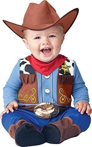 Baby Cowboy Boy Kostüm - Baby Kostüm Deluxe Jungen Wee Wrangler Cowboy Wilder Westen Halloween Verkleidung Kostüm Outfit - Mehrfarbig, EU 74/86