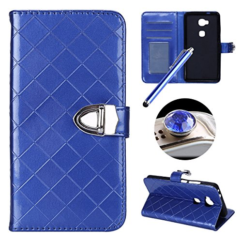 Etsue Huawei Honor 5X Custodia,Huawei Honor 5X Cover in Pelle ,Huawei Honor 5X Protettiva Case (Messenger Folio)
