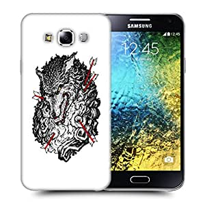 Snoogg Grey Wolf And Arrow Designer Protective Back Case Cover For SAMSUNG GALAXY E5