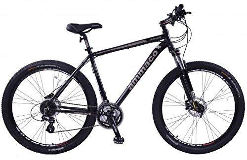 Ammaco - Mountain bike, in lega, da uomo, 29 pollici, blocco forcella e freni a disco idraulici, telaio da 23 pollici, colore: nero - Freni Mountain Bike A Disco Idraulici