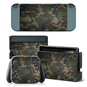Nintendo Switch Skin Design Foils Aufkleber Schutzfolie Set – Camouflage 3 Motiv