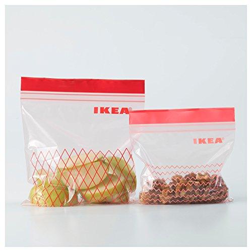 & Istad – Sacchetto di plastica, colore verde, 60 unità, con 30 sacchetti da 0,4 l e 30 sacchetti da 1 l, richiudibili e riutilizzabili Plastic bag Verde prezzo
