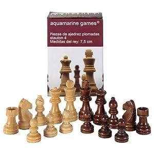 Aquamarine Games – Stauton 4, Piezas de ajedrez (Compudid CP002)