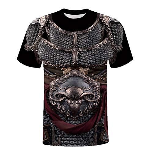 Xmiral t-Shirt Unisex Urlaub 3D Rüstung Printed Tee Baumwollmischung O-Ausschnitt Tops Slim Fit ()