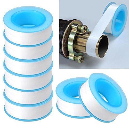 Fomccu 10 pcs Rouleau de plomberie plombier Fixation Filetage ruban d'étanchéité PTFE pour tuyau d'eau d'étanchéité