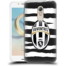 Ufficiale Juventus Football Club Righe Zebra Lifestyle Cover Morbida In Gel Per Alcatel A7