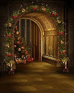 Corona de Navidad arco puerta
