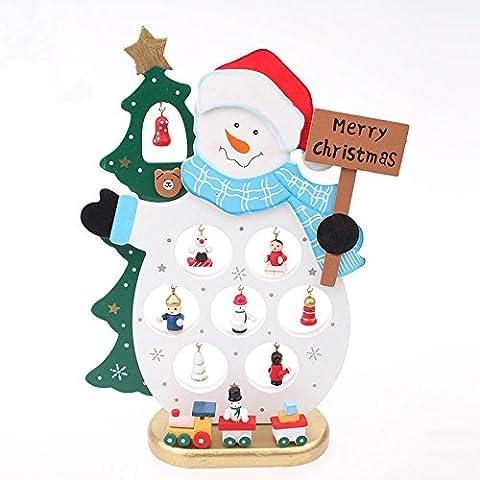 Ornamenti di Natale pupazzo di neve ornamenti regali creativi in legno casa bar nell'archivio ufficio decorazione decorazioni di Natale,Tromba