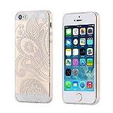 ECENCE Apple iPhone SE/5 5S CUSTODIA SLIM CASE TPU SILICONE COVER TRASPARENTE CLEAR 12020405