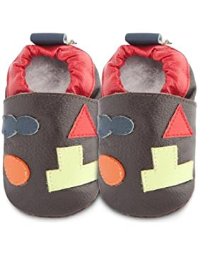 ShooShoos - Zapatitos de piel suela blanda, bloques